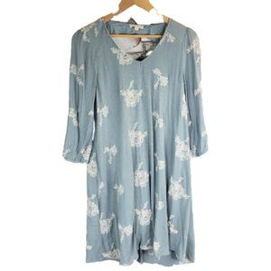 ILLA ILLA Boho Shift Dress Embroidered Size M